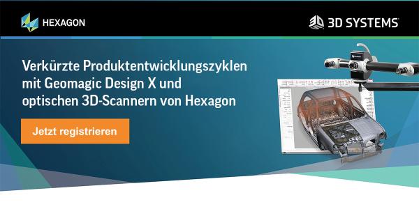Online-Seminar: Verkürzte Produktentwicklungszyklen mit Geomagic Design X und optischen 3D-Scannern
