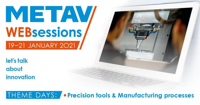 METAV-Websessions on precision tools and manufacturing processes from 19 to 21.01.21 - Register now!