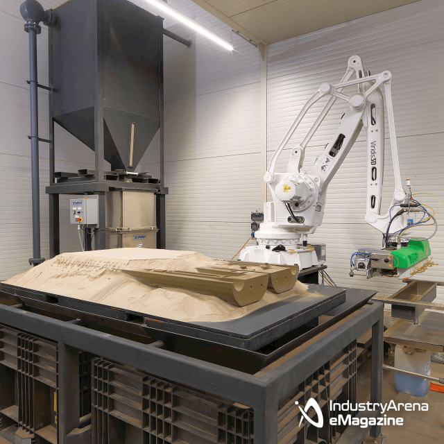 3D-Sanddrucker bringt komplexe Geometrien in Form