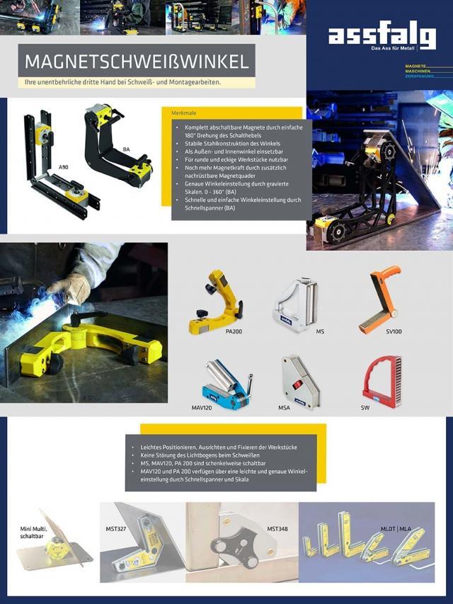 Magnetschweißwinkel - Universelle Hellfer bei Schweiß- und Montagearbeiten