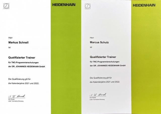 Qualifizierte Trainer für TNC-Programmierschulungen