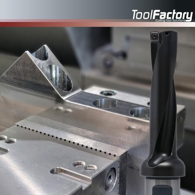 So now it's out – the new indexable insert drill!