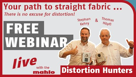Your path to straight fabric … There is no excuse for distortions!