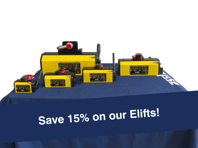 Save 15% on our Permanent Lifting Magnets Elift!