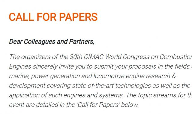 Call for papers closed - first results