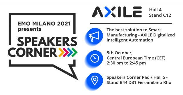 【AXILE Talk-EMO Milano Speaker Corner】