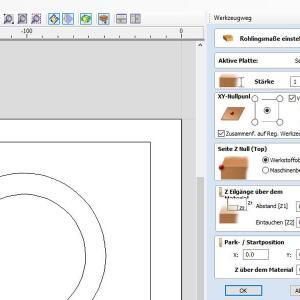 Cut2D Pro Software von Vectric