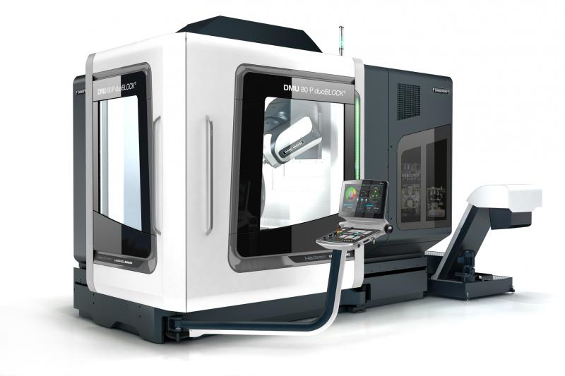 The 4th Generation DMU 80 P duoBLOCK<sup>®</sup> from DMG MORI provides 5-axis machining at the highest level with outstanding performance features.