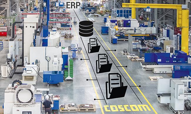 COSCOM Pressemitteilung: Zentrale Basis für den Connected Shopfloor – Der neue COSCOM FactoryDIRECTOR VM