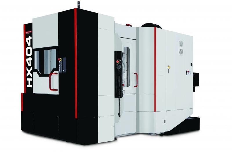 Mit der jüngsten Schöpfung, der HX 404, erweitert Quaser die Baureihe HX um eine robuste und zugleich kompakte Maschine für die Kleinteilebearbeitung.