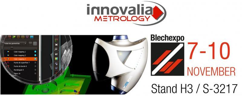 Innovalia Metrology präsentiert Lösungen für Metrologie 4.0 auf der Blechexpo in Stuttgart