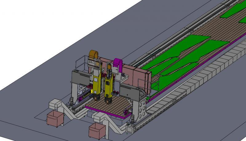 Gesamtansicht inklusive des Plattenfelds der VertiMaster AERO 40 zur Bearbeitung von Aluminiumbauteilen