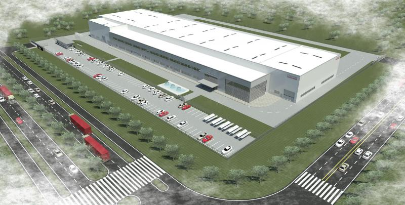New perspectives: Model of the planned CHIRON Group plant in Taicang with a total area of 36,000 square meters.