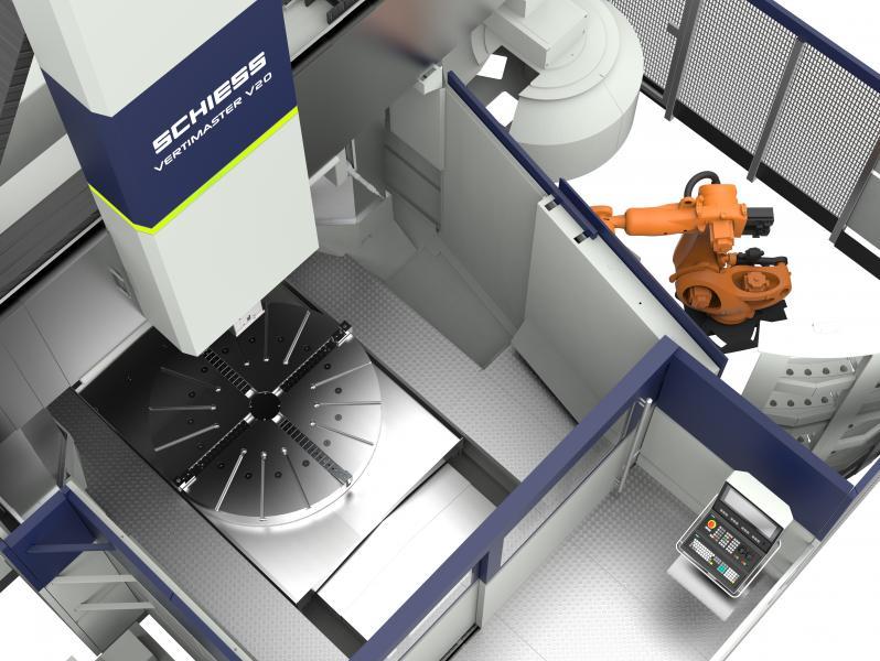 vertikale Drehmaschine mit vielen Optionen: - automatischer Kopfwechsel - Modulares, konfigurierbares Werkzeugmagazin - Palettenwechsel - Fräsantrieb - verschiedene Köpfe - ...