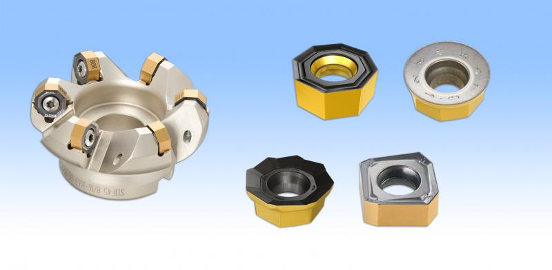 Bei HELIDO 800 können Schneidplatten mit unterschiedlichen Formen in den Fräser eingesetzt werden. Das senkt die Werkzeugkosten.