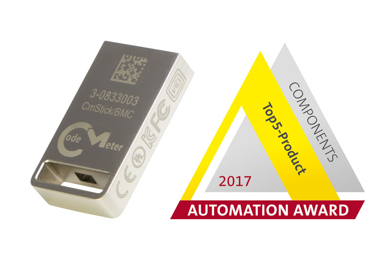 CmStick/BMC, the world's smallest USB dongle with flash memory, is one of the five nominees for the 2017 Automation Awards