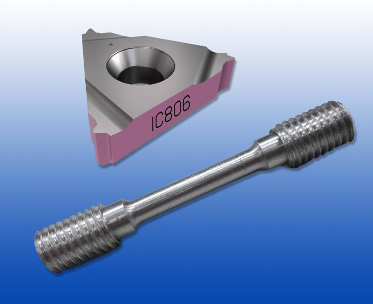 Die Schneidstoffsorte IC806 von ISCAR eignet sich besonders für die Außen- und Innenbearbeitung von hoch hitzebeständigen Legierungen wie Inconel 718.