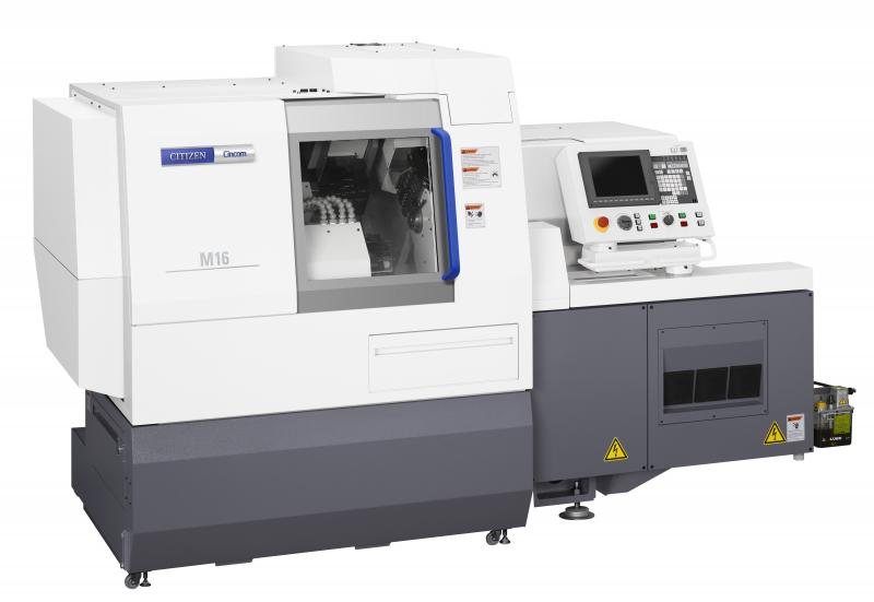 Consummately fit for purpose: Citizen's automatic headstock lathes (here the Cincom M16-4M8), thanks to their easily accessible machine interiors and highpressure cooling lubricant systems, are ideally suited for reliable production of medical technology.