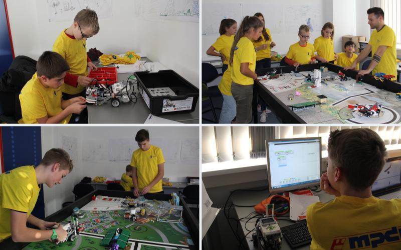 Nachwuchsförderung live: Einblicke in die vielfältigen Tätigkeiten der Schüler in Vorbereitung auf den Roboterwettbewerb