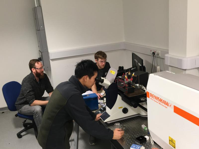 Prof Laurence Hardwick and colleagues from The Stephenson Institute for Renewable Energy use their Renishaw inVia Raman microscope to perform operando electrochemical measurements.