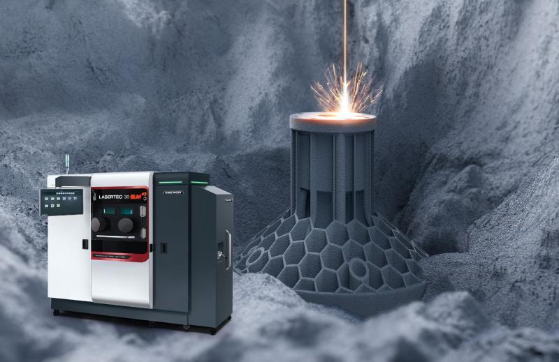 Im Markt der additiven Systeme zum selektiven Laserschmelzen überzeugt die LASERTEC SLM mit hoher Prozesssicherheit und Produktivität. So ermöglicht ein flexibles Pulvermodul einen Pulverwechsel in weniger als zwei Stunden.