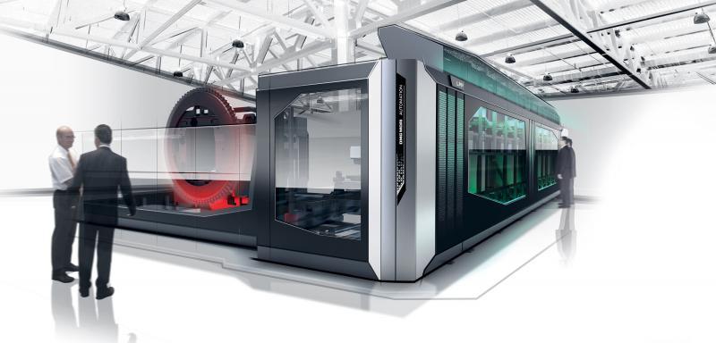 Die intelligente Verknüpfung von Werkzeugmaschine und Automation erfolgt an den Produktionsstandorten von DMG MORI, so dass Kunden ein durchgängiges Automatisierungskonzept aus einer Hand erhalten.