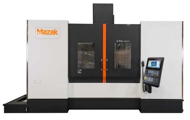 Mazaks jüngste Maschine mit CNC-Steuerung von Siemens ist das vertikale Bearbeitungszentrum VTC-760C mit Fahrständer, das von der neuen Siemens-Steuerung 828D gesteuert wird.