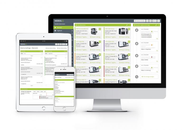The digital repair and maintenance process available through the WERKBLiQ platform accelerates and optimises the entire flow of communication and information.