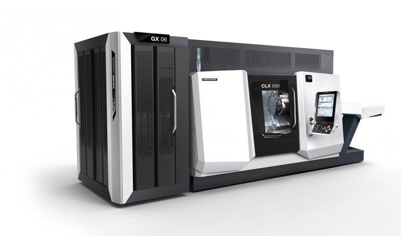 Der neue GX 6 Gantry Loader für die Maschinen der CLX-Baureihe wurde auf Basis der NLX Gantry Automation entwickelt und handelt Werkstücke bis 6 kg.