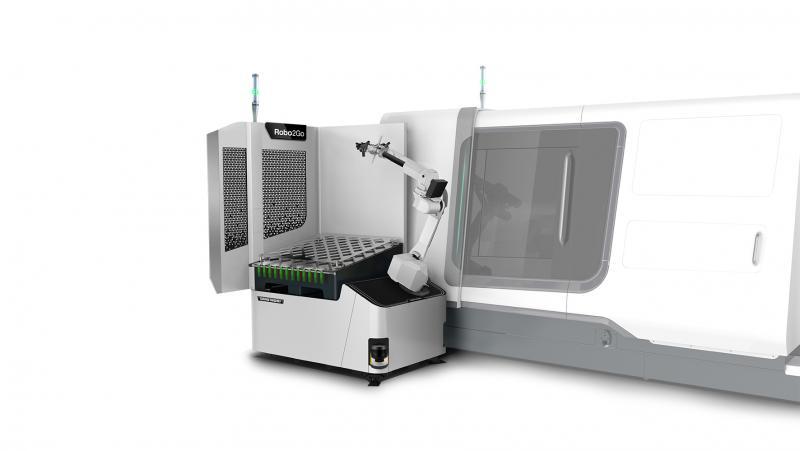 Mit dem Robo2Go hat DMG MORI ein Werkstück-Handling im Sortiment, das flexibel an zahlreichen Universaldrehmaschinen eingesetzt werden kann und durch seine leichte Programmierbarkeit via CELOS überzeugt.