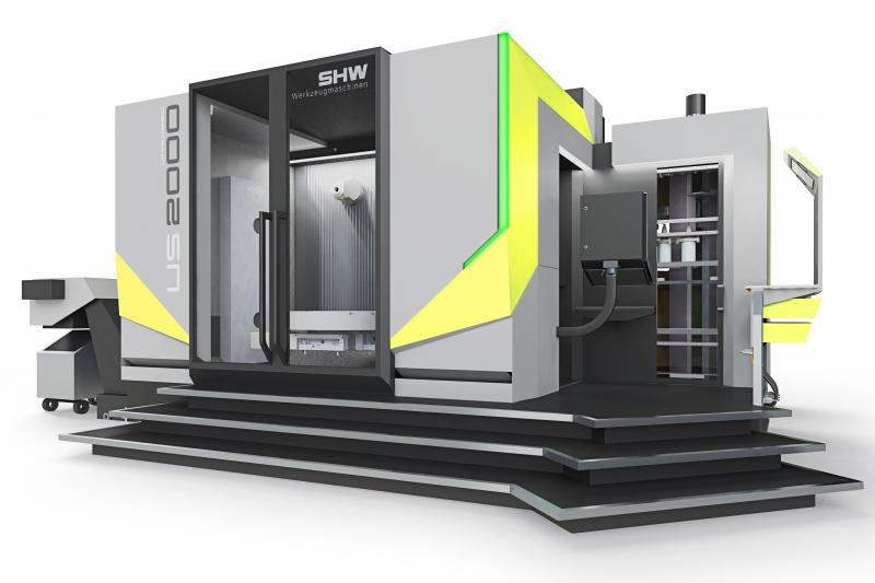 Machining centre in new design with