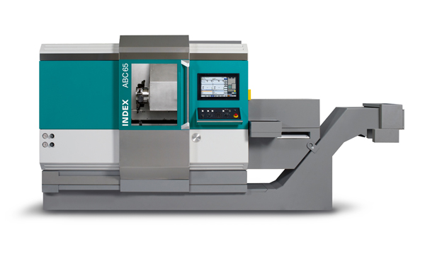 2013: Introduction of the INDEX ABC65 automatic production lathe and the new machine design at the EMO