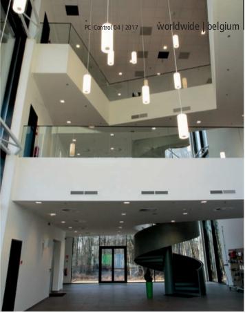 Auf Basis der gewerkeübergreifenden Gebäudeautomation von Beckhoff sind alle Funktionen des Gebäudes, inklusive der Medientechnik, auf einer Softwareplattform verknüpft. Das sorgt für eine hohe Energieeffizienz bei gleichzeitig hohem Komfort auf Seiten der Benutzer.