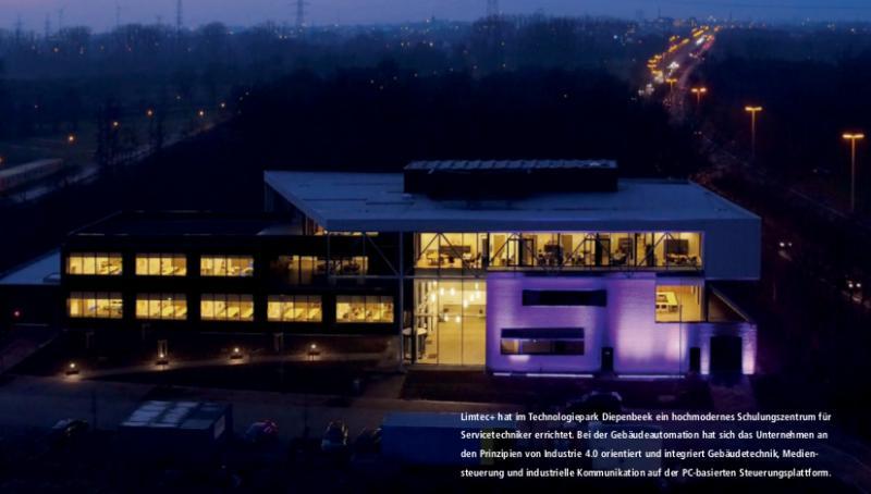 Limtec+ hat im Technologiepark Diepenbeek ein hochmodernes Schulungszentrum für Servicetechniker errichtet. Bei der Gebäudeautomation hat sich das Unternehmen an den Prinzipien von Industrie 4.0 orientiert und integriert Gebäudetechnik, Mediensteuerung und industrielle Kommunikation auf der PC-basierten Steuerungsplattform.