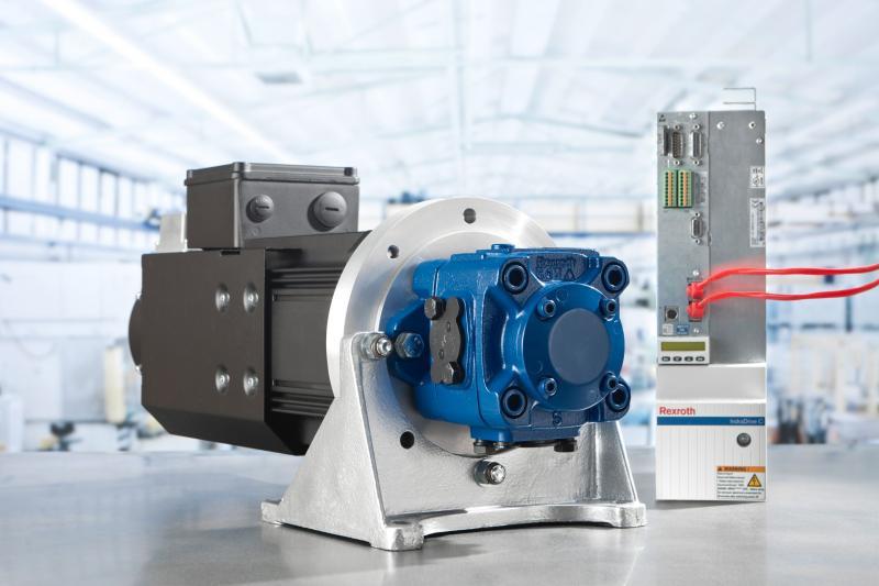 Drehzahlvariable Pumpenantriebe Sytronix von Rexroth reduzieren den Energieverbrauch um bis zu 80 Prozent.