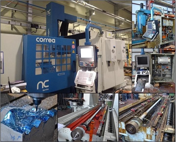 Nicolás Correa Service reconstruye la fresadora CORREA EURO2000 de un cliente francés