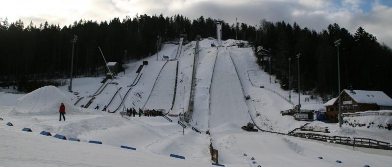 Adler-Skistadion und Olympiastürzpunkt in Hinterzarten, Schwarzwald, Deutschland