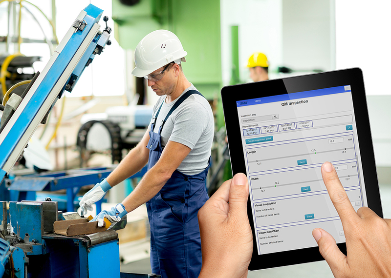 Mobile inspection data collection with HYDRA and Smart MES Applications