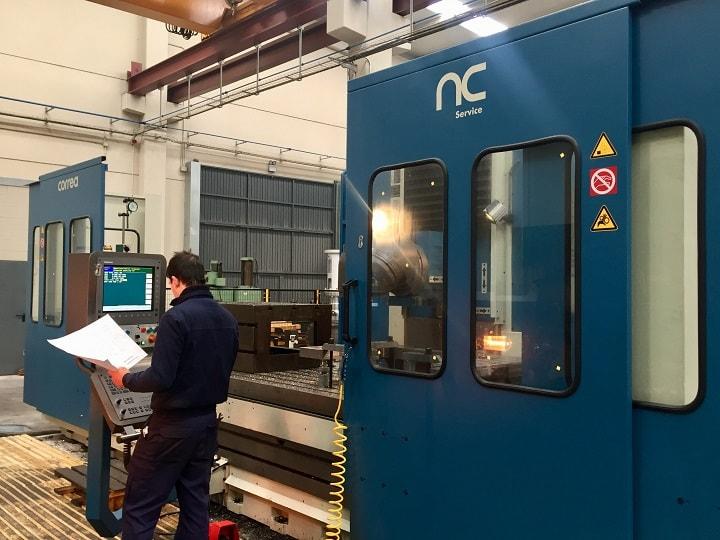CORREA L30/43 milling machine: complete retrofit by NC Service