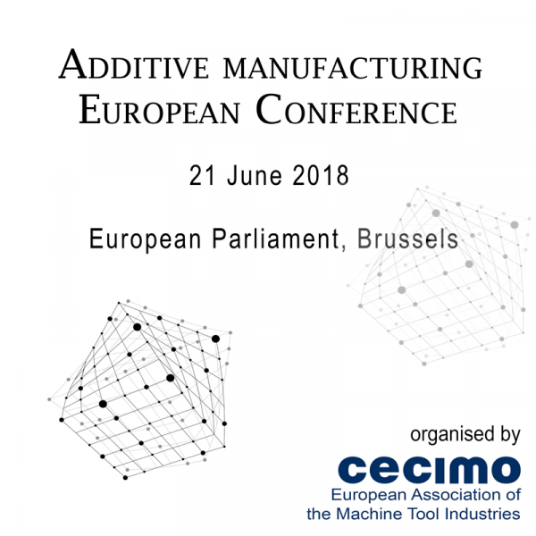 The conference for Additive Manufacturing at European level. It takes place on 21 June 2018 in Brussels.