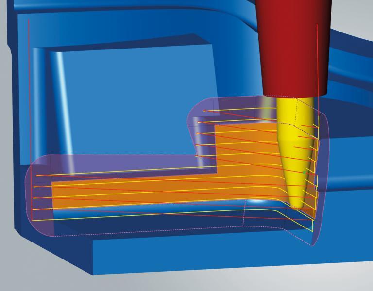Konische Tonnenfräser sind jetzt auch für das 3D-Form-Ebenenschlichten einsetzbar.
