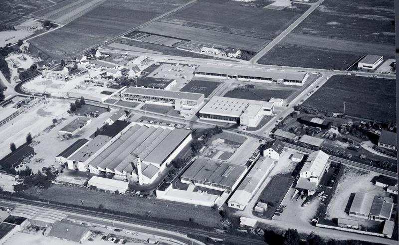 GROB Mindelheim plant in the year 1971