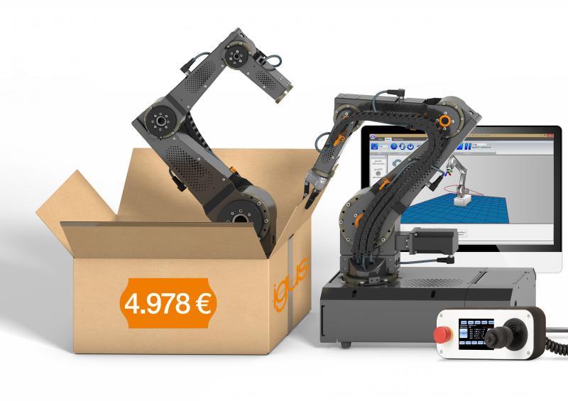 robolink DCi: Zusammen mit der CPRog Software von Commonplace Robotics ist der Start in die Welt der Industrierobotik günstig und einfach.