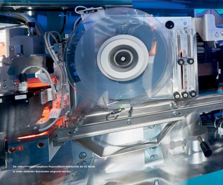 Die zahlreichen und komplexen Prozessabläufe konnten bei der DS Merlin in einem minimalen Bauvolumen umgesetzt werden.