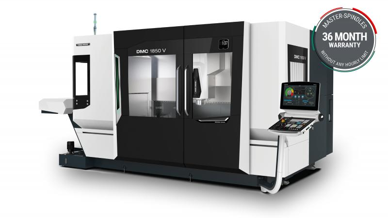 DMG MORI positions the new DMC 1850 V between the smaller sister models and the larger DMF travelling column machines.