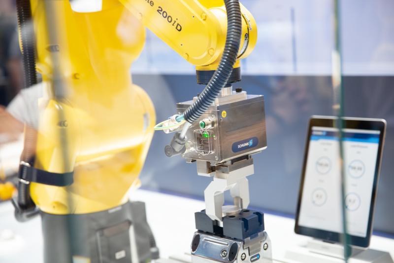Die intelligenten und smarten Komponenten von SCHUNK erschließen neue Einsatzfelder und schaffen eine hohe Prozesstransparenz. Bild: SCHUNK