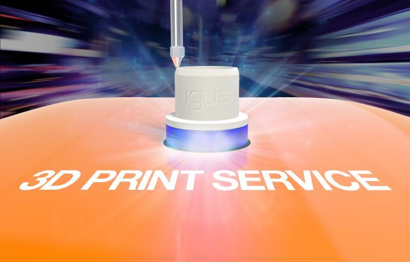 Schnelle Hilfe: igus fertigt mit seinem 3D-Druckservice schmiermittelfreie Sonderlösungen wie individuelle Gleitlager innerhalb weniger Stunden.