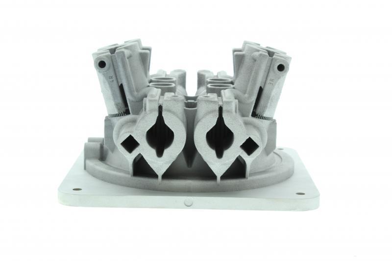 Bloque de galvos de fabricación aditiva utilizando cuatro láseres en la máquina RenAM 500Q durante 19 horas.