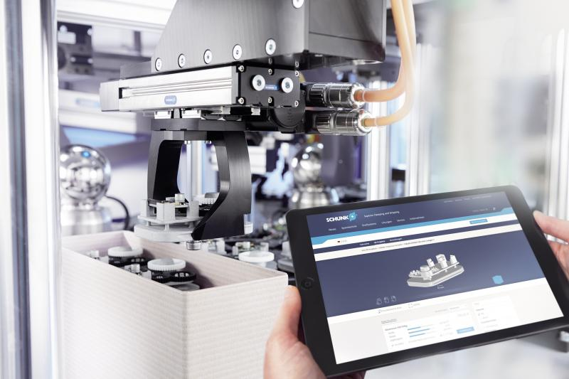 Beim SCHUNK 3D-Printservice lassen sich hochwertige Maschinenbauteile in Sekundenschnelle als CAD-Daten hochladen. Innerhalb von rund zehn Arbeitstagen sind die Teile versandfertig. Bild: SCHUNK