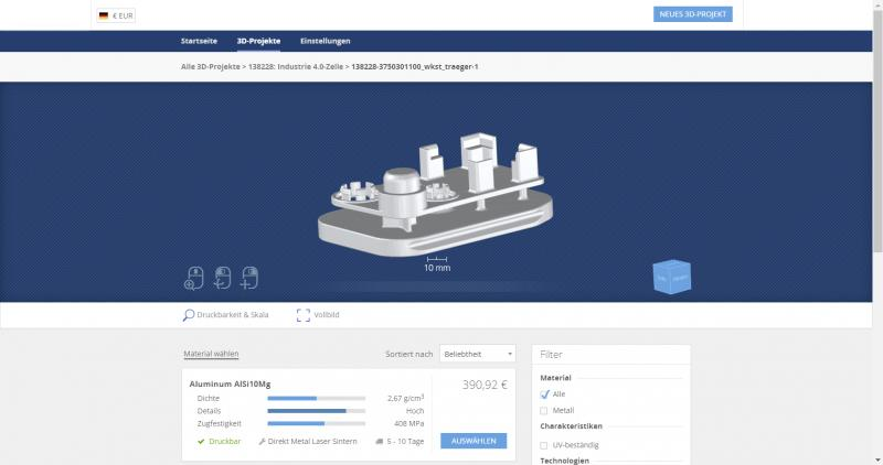 The fantasy knows no limits when printing in 3D with the SCHUNK 3D-Printservice: The printability of the various parts is automatically checked and displayed. Photo: SCHUNK